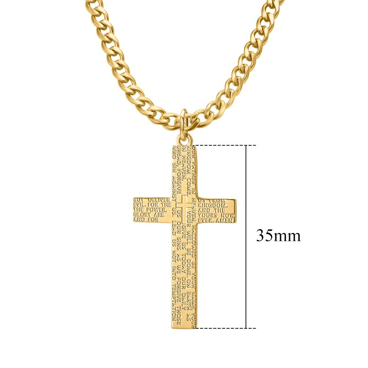 Black Silver Gold Rose Gold Christian Cross Pendant Necklace Minimalist Mat Frosted Looking Shine Necklace Christmas Gift Personalized Catholic Cross Jesus Necklace
