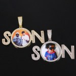 Custom Made Hip Hop Name Necklace Personalized Photo Frame Name Necklace One English Name Necklace With Photo Frame For Casual Wears Jewelry For Regular Outfits