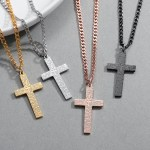 Hip Hop High Quality Stainless Steel Catholic Cross Necklace Premium Quality Cross Necklace For Men And Women Decent Looking Personalized Jewelry Gift For Christmas