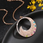 Rose Gold Color Plated High Quality Custom Names Necklace Personalized Name Necklace With Water Wave Pendant For Ocean Lovers Multiple Crafted Names Necklace For Women