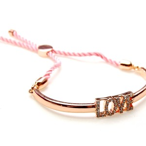 Bangle Love roze