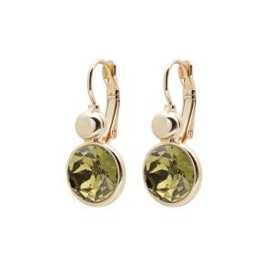 Biba oorbel goud Olive green