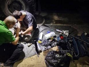 Reparatur in der Nacht