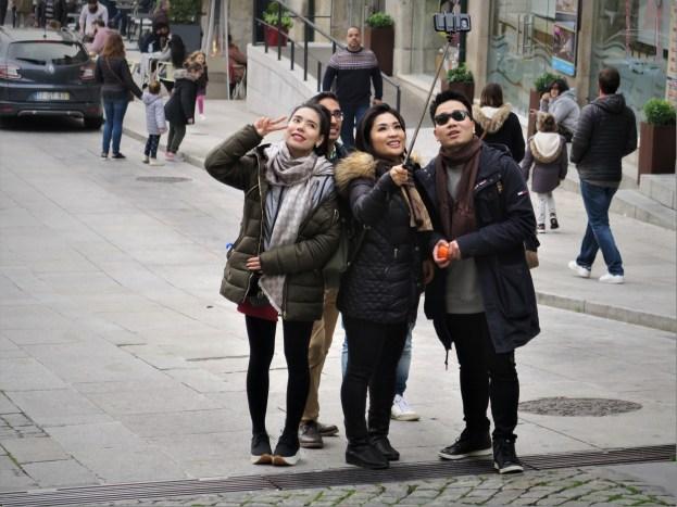 Selfie-Tourismus in Porto