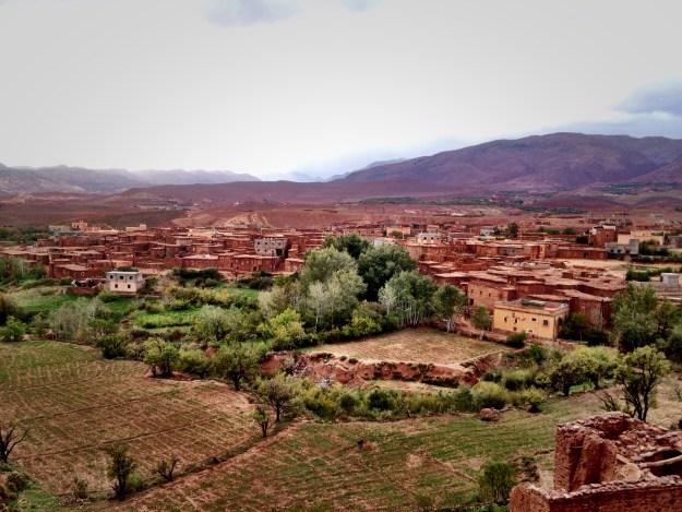 Blick von der Kasbah auf Telouet