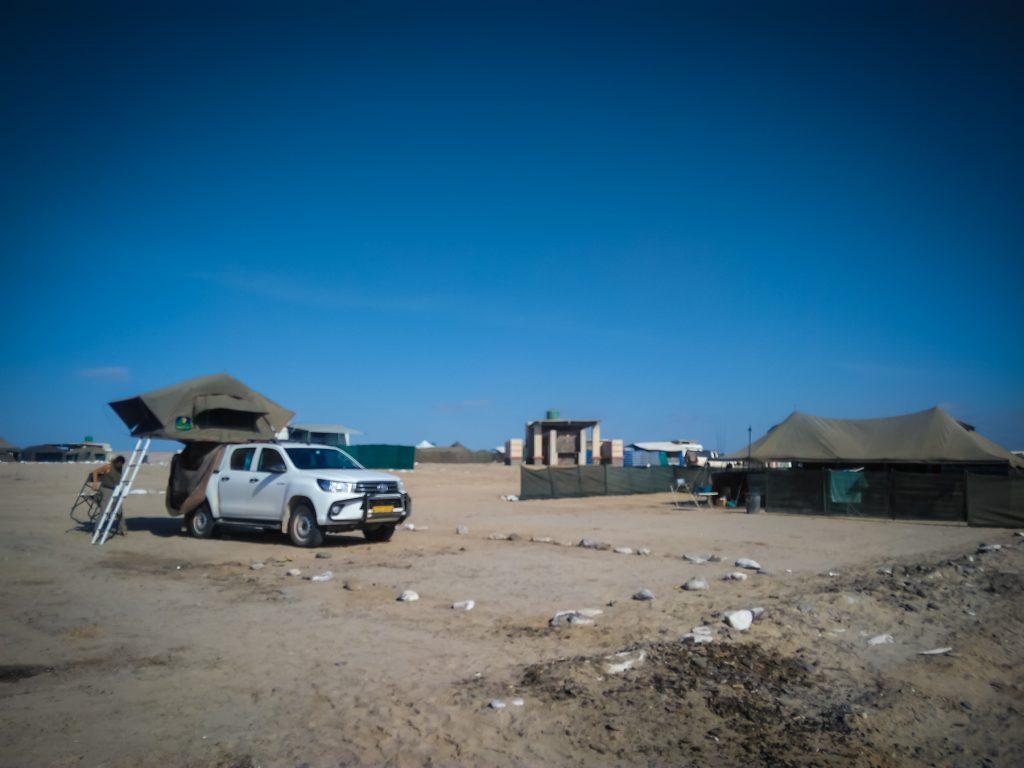 Übernachtungsplatz in Torra Bay