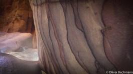 Kalksteinfelsen im Wadi Mujib