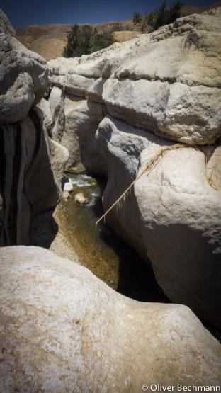 Einstieg in den Canyon im Wadi Bubeita