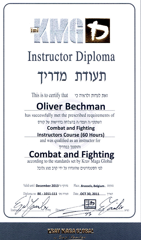 CFIC-Diploma Oliver Bechmann