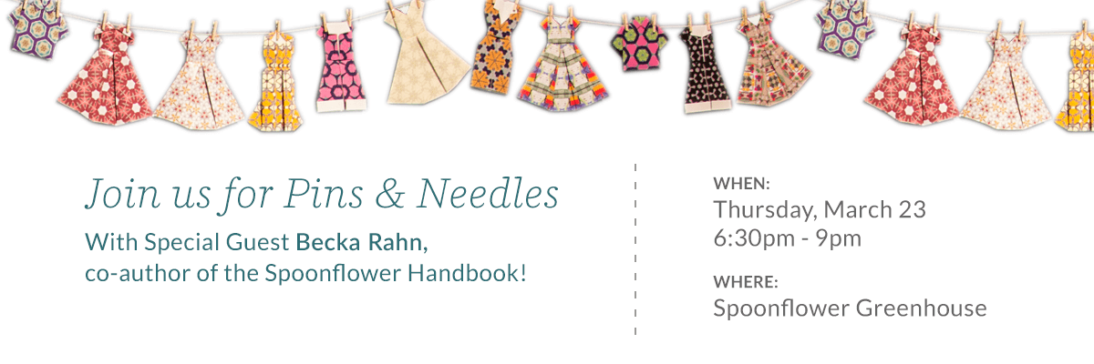 Please Join Us In The Spoonflower Greenhouse For A Knitting Crocheting And Sewing Social With Special Guest Becka Rahn Co Author Of