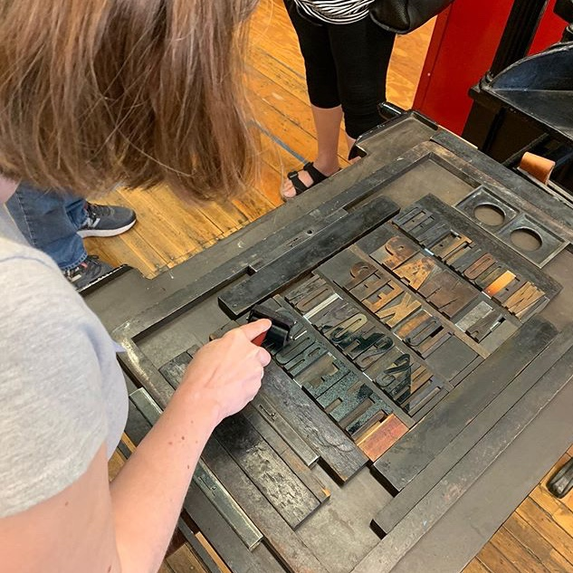 me printing with wood type