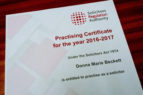Personal Injury Solicitors Practising Certificate