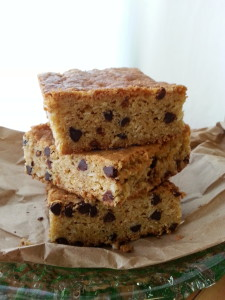 Chocolate-Chip Coconut Cookie Bars made from Beck's Farm-Style Baking Mix