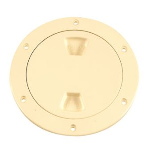 "4"" BEIGE SCREW-OUT ACCESS PLATE"
