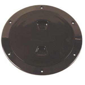 """Beckson 6"""" black access plate"""