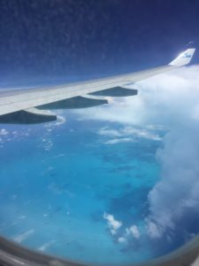 Travels of 2017: Flying over the Bahamas on my way to Panama
