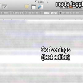 Scrivener's Three Modes