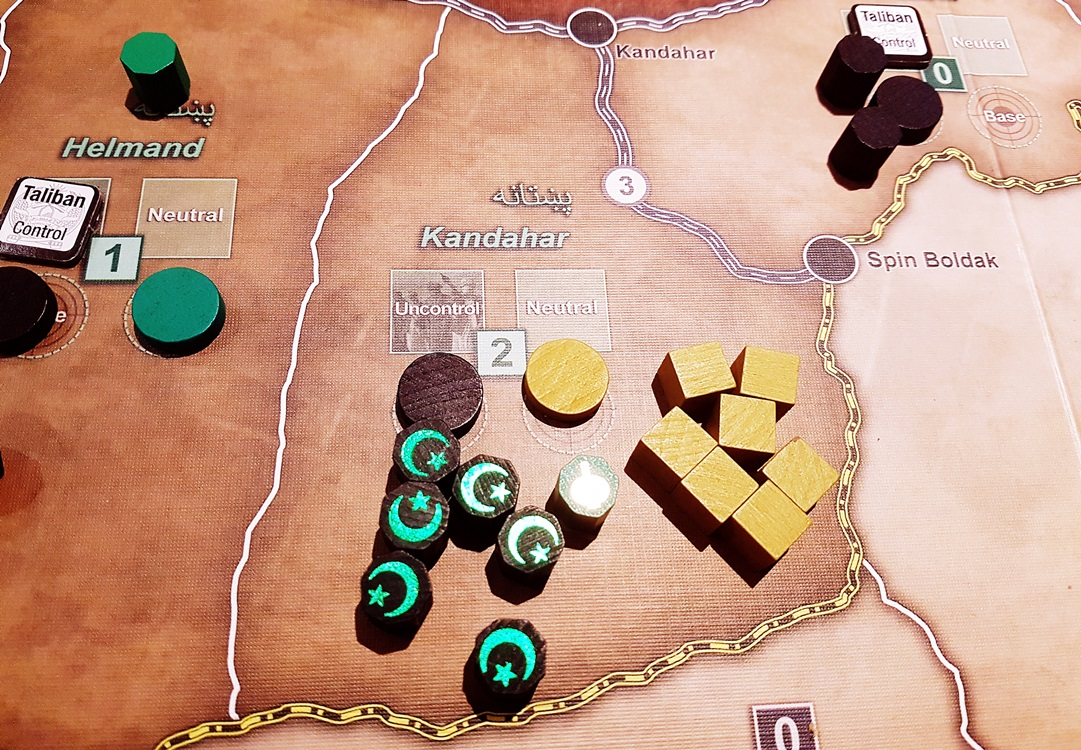 Taliban vs Coalition during A Distant Plain board gameTaliban close to victory during A Distant Plain board game