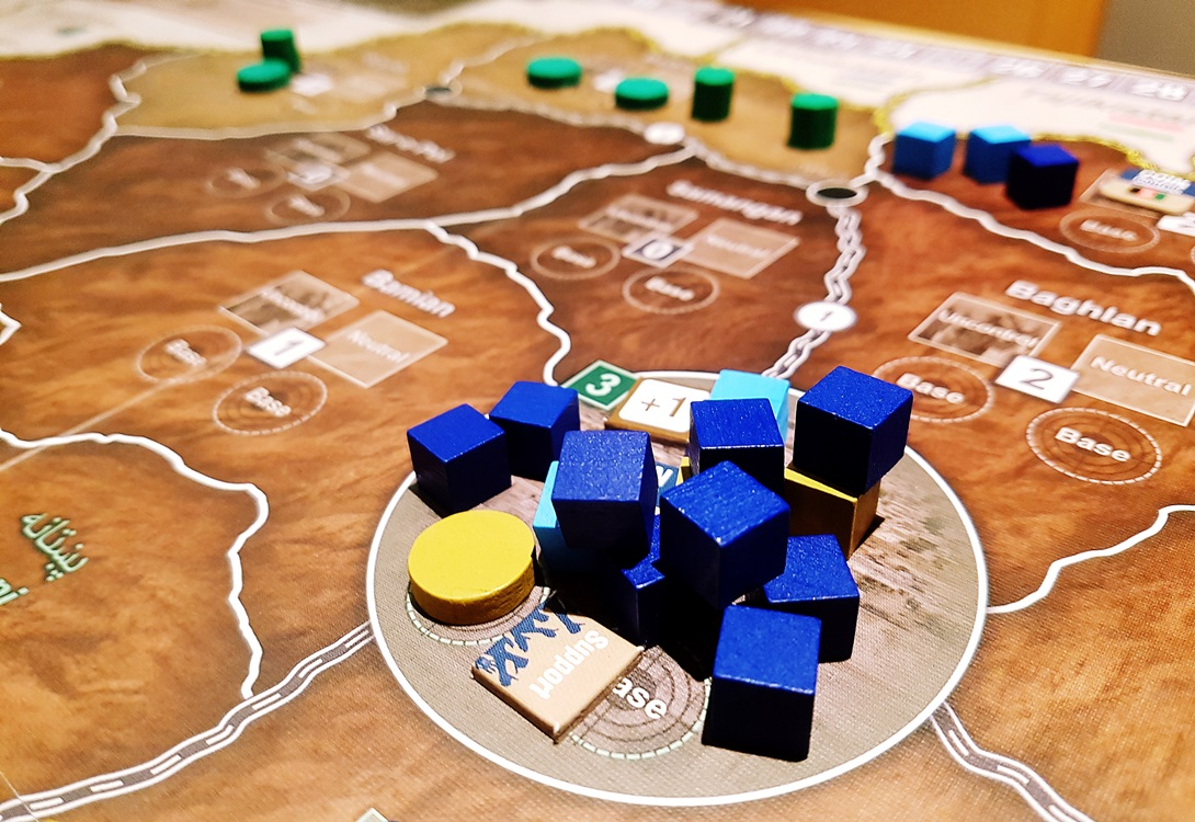 Government considering whether to take on the Warlords during A Distant Plain board game