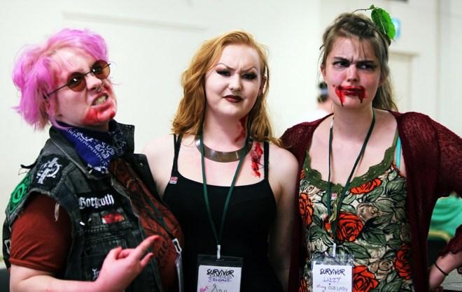 The Morrigan survivor team at the Aftermath Megagame