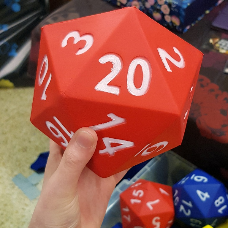 Giant d20 - AireCon 2019 by BeckyBecky Blogs