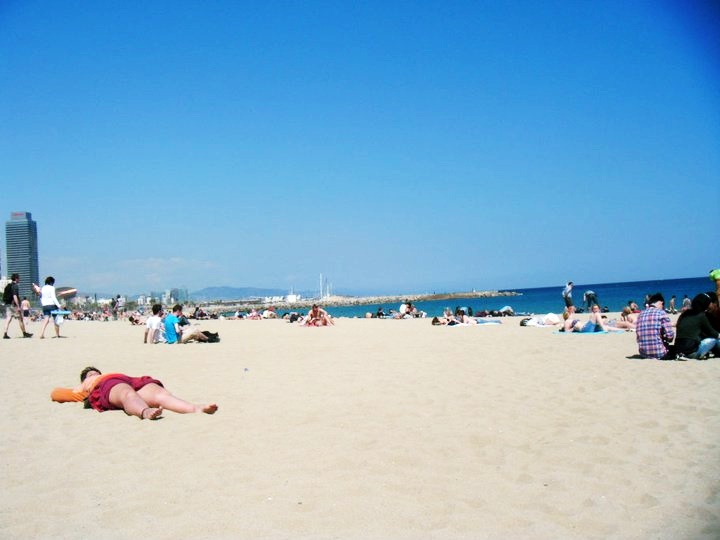 Barcelona beach - Reminiscing about Barcelona by BeckyBecky Blogs