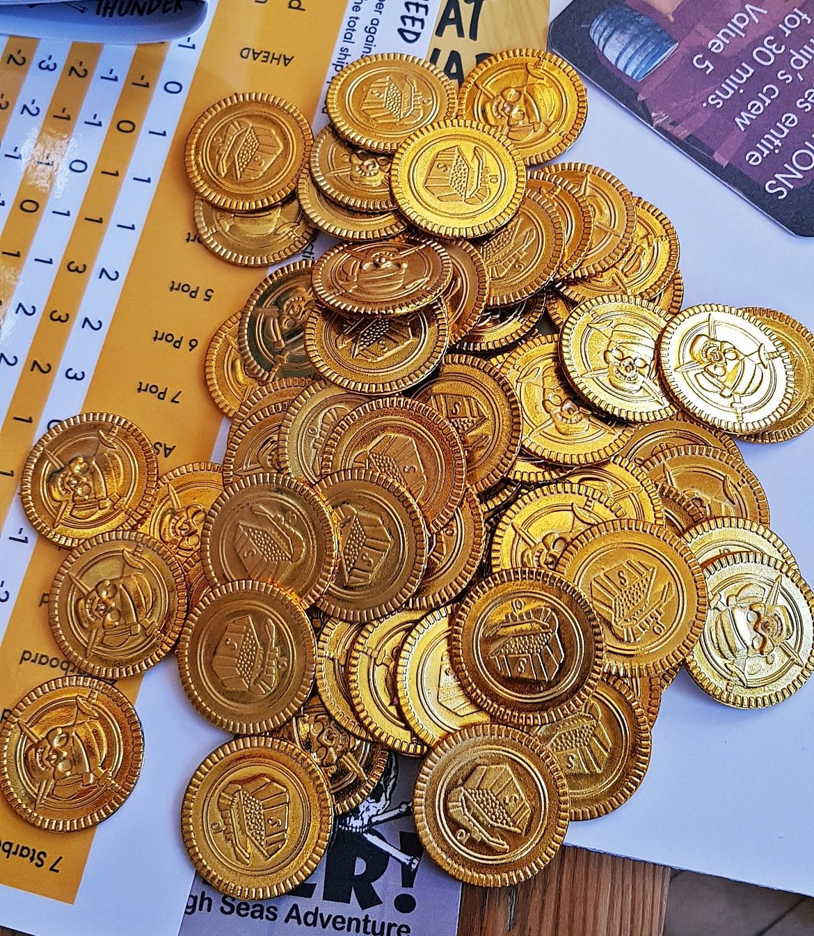 Gold coins - Blood and Thunder Megagame After Action Report by BeckyBecky Blogs