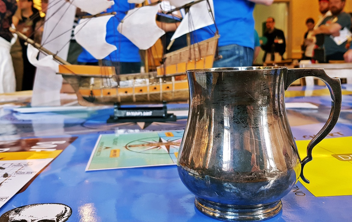 Rum and a pirate ship - Blood and Thunder Megagame After Action Report by BeckyBecky Blogs