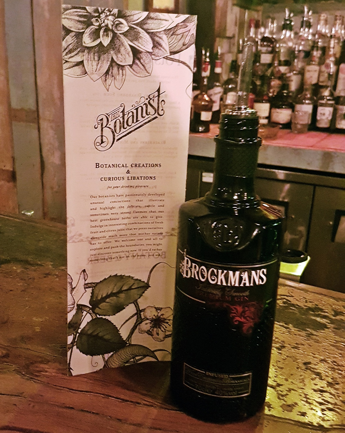 Brockmans Gin - Gin Masterclass at the Botanist Leeds, review by BeckyBecky Blogs