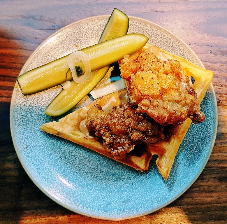 Chicken and Waffles - Breakfast For Dinner at Laynes Espresso - Leeds Indie Food Festival 2018 by BeckyBecky Blogs