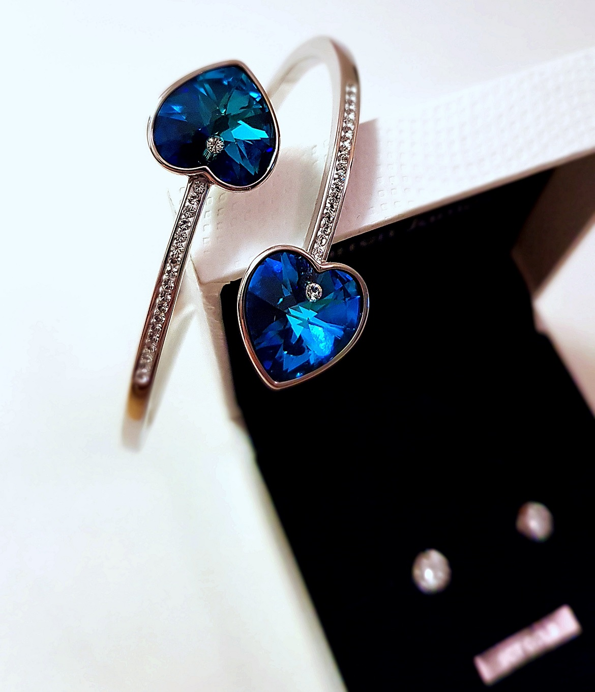 Swarovski bracelet and sparkly earrings - Christmas Presents Round Up by BeckyBecky Blogs