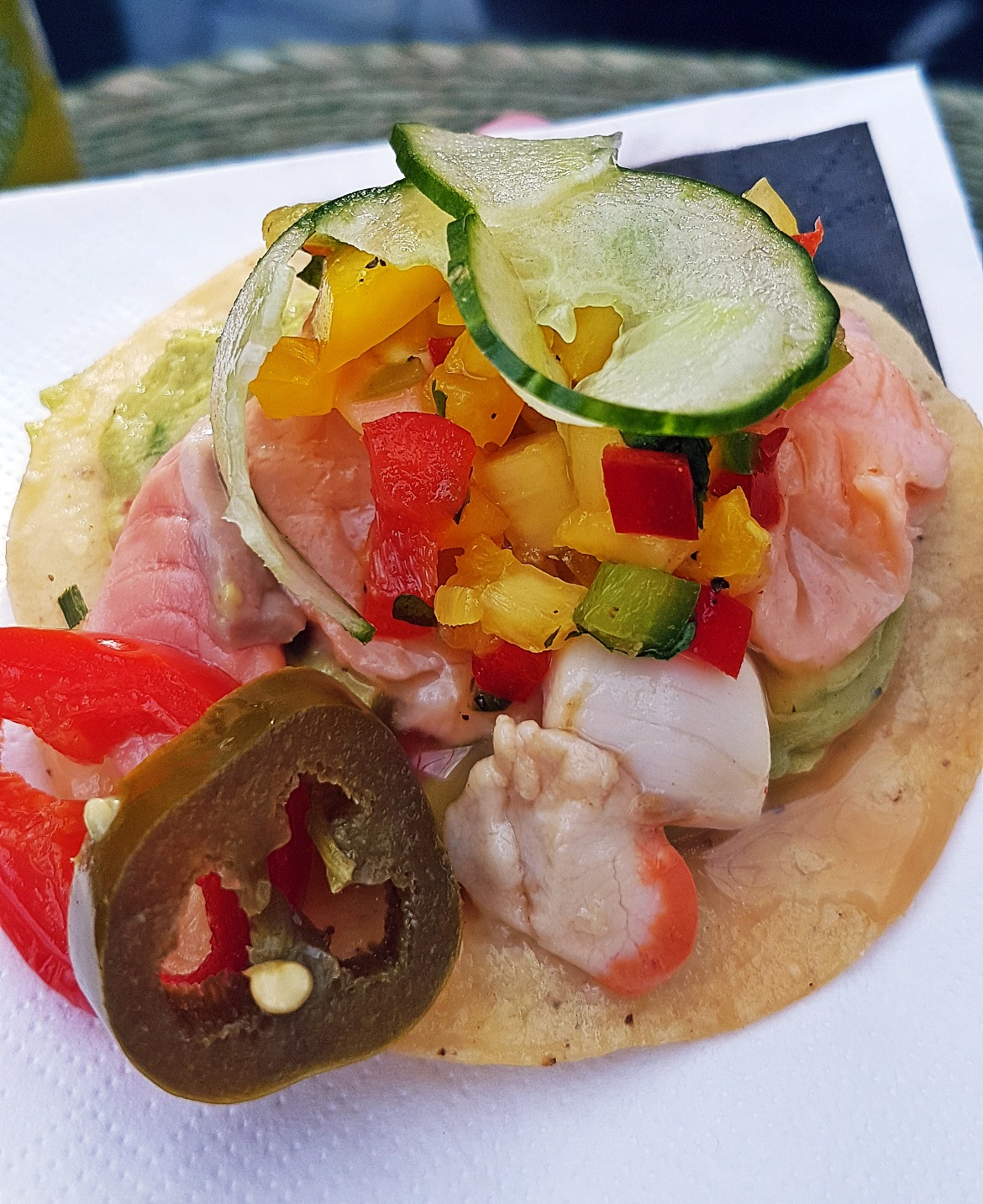 Ceviche Tostada - Cielo Blanco Social Summers, review by BeckyBecky Blogs