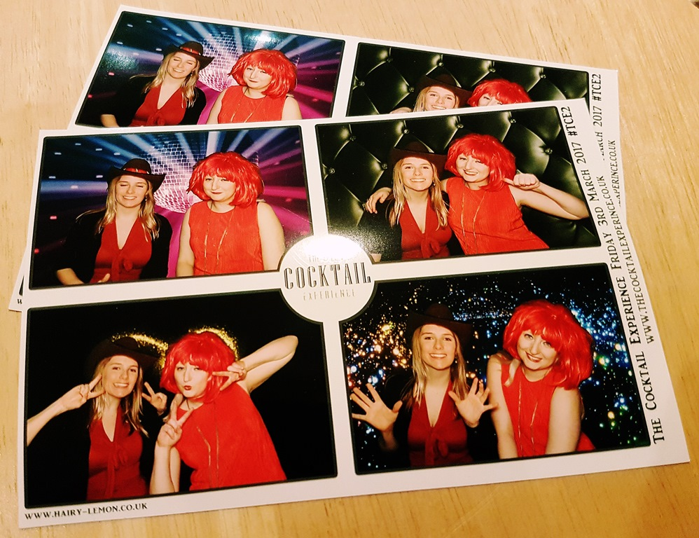 Photo Booth at the Cocktail Experience Leeds - Review by BeckyBecky Blogs