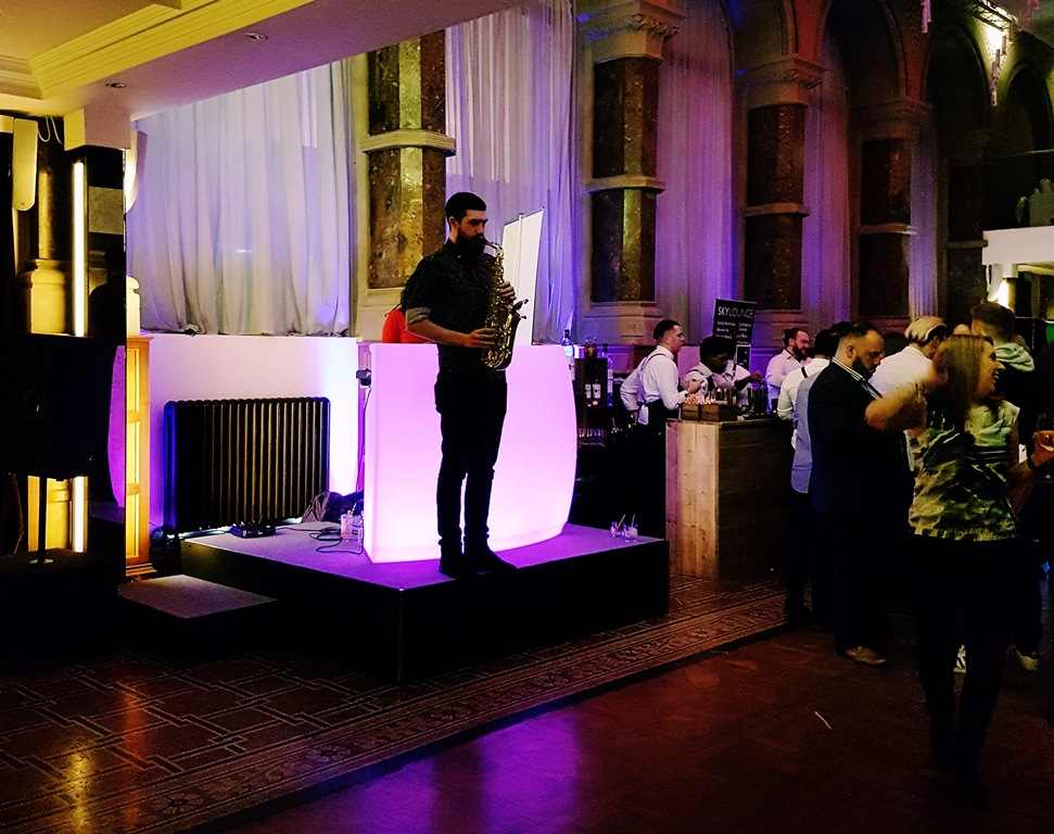 Saxophonist at the Cocktail Experience Leeds - Review by BeckyBecky Blogs