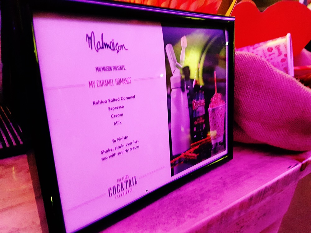 Cocktail sign for Malmaison at the Cocktail Experience Leeds - Review by BeckyBecky Blogs