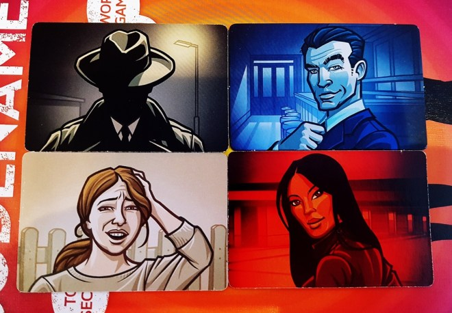 Codenames tabletop card game cards