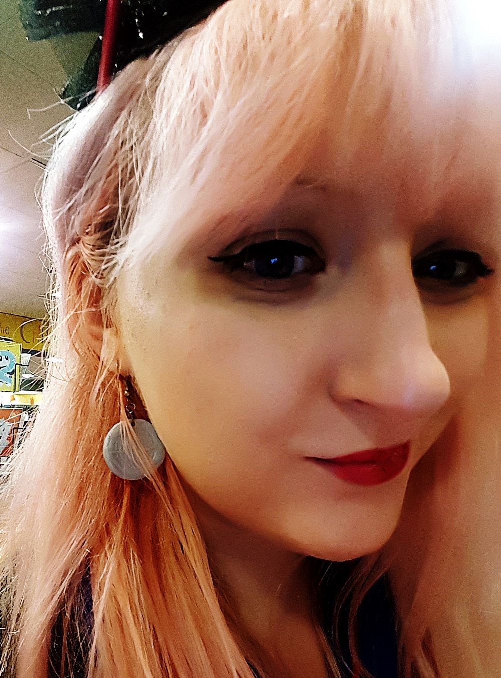 Sickle earrings at the Cursed Child Book Launch at Waterstones Leeds