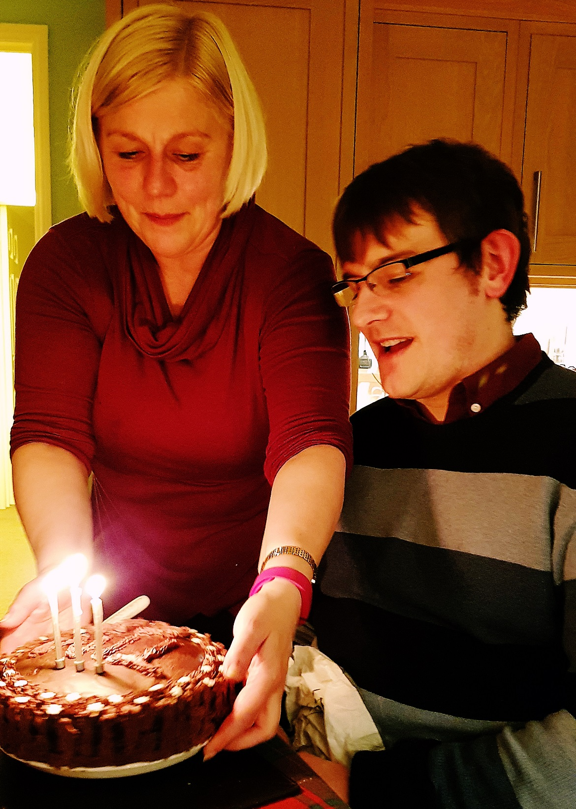 Tim's birthday cake - December Monthly Recap by BeckyBecky Blogs