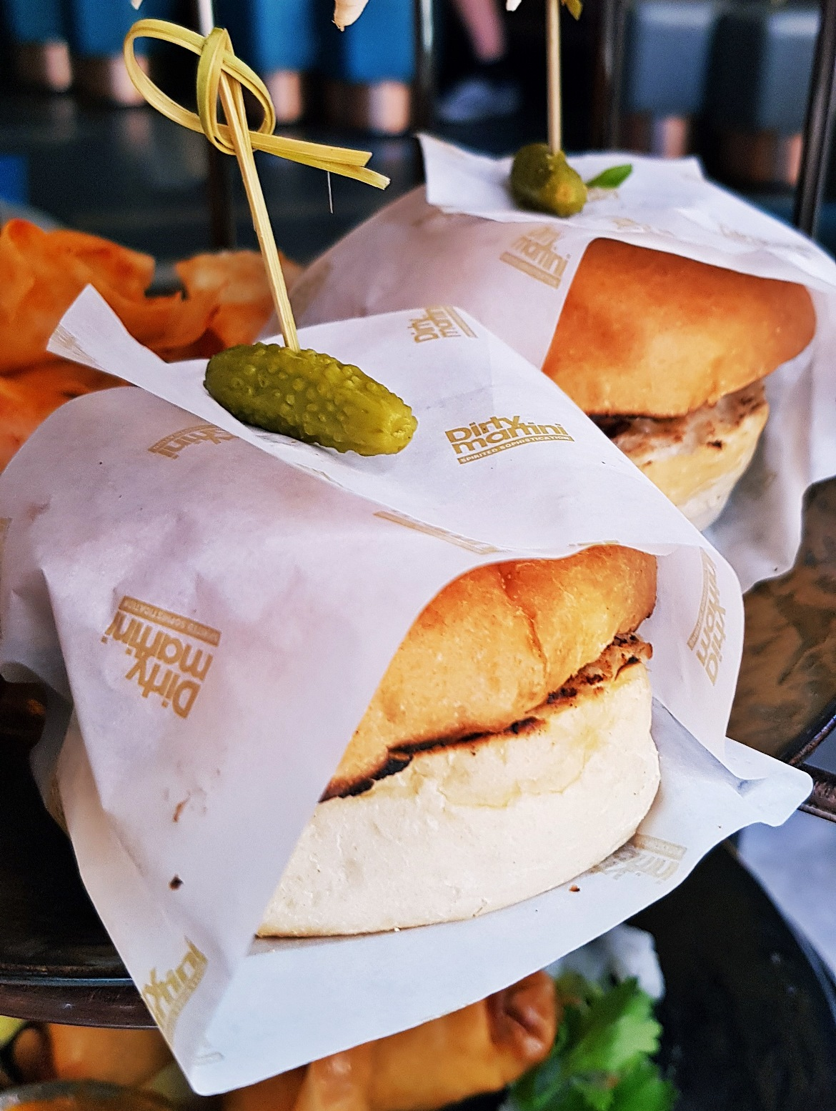 Cheesburger sliders - Bottomless Brunch at Dirty Martini, review by BeckyBecky Blogs