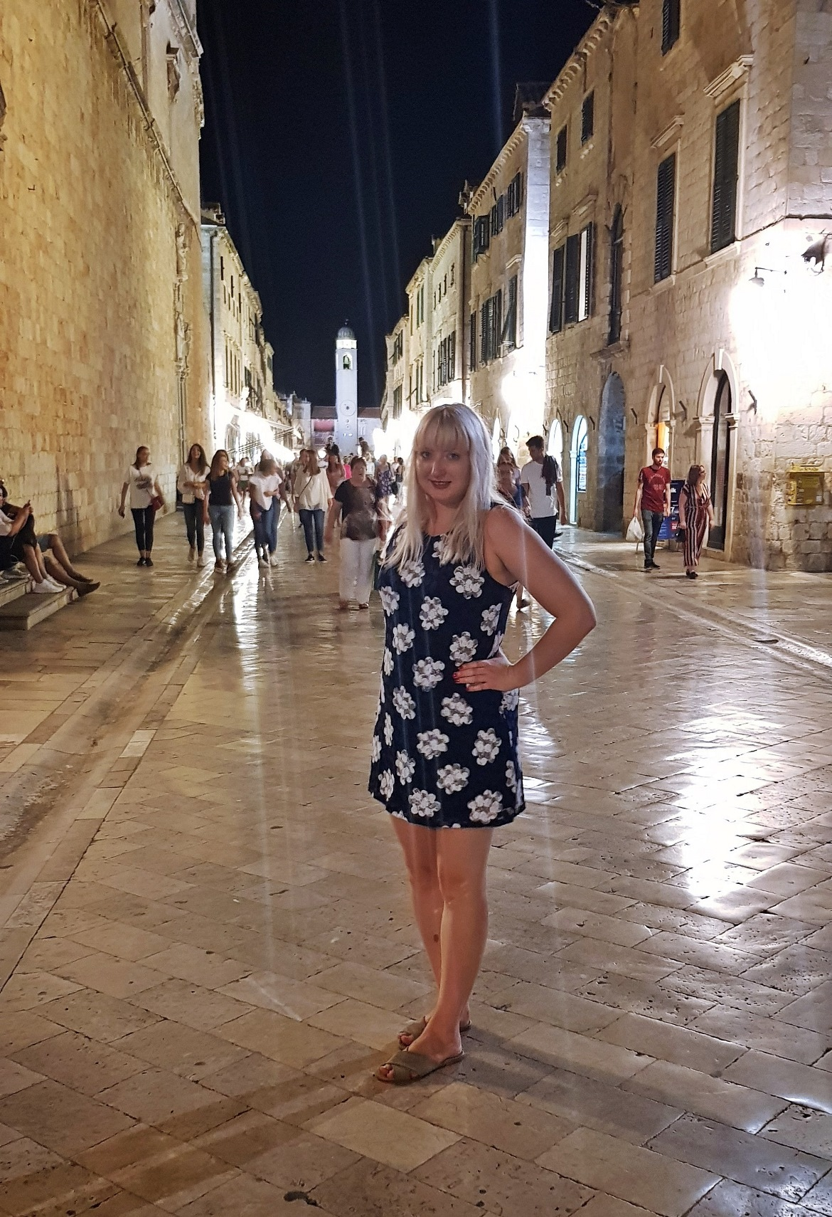 Strolling through the Old Town after sunset - Sightseeing in Dubrovnik, Croatia - Top Travel Tips by BeckyBecky Blogs