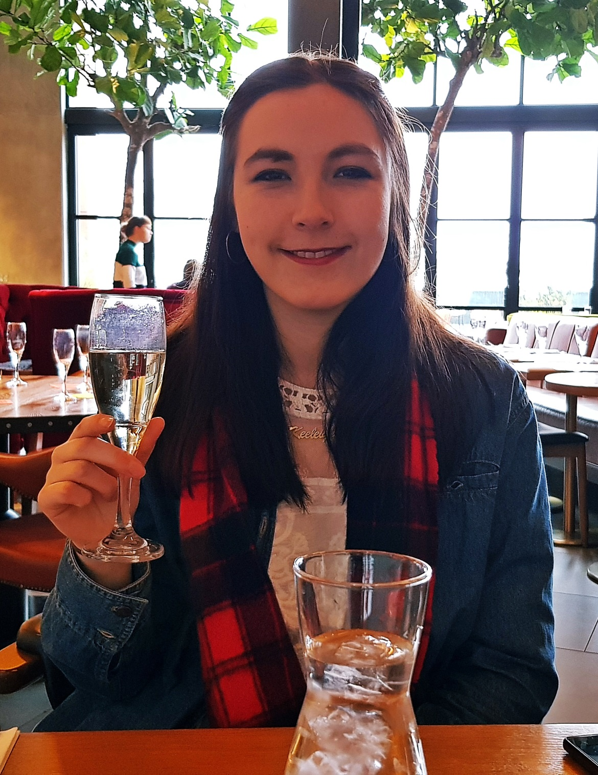 Keeleigh and her prosecco - Bottomless Brunch at East 59th, Leeds Restaurant Review by BeckyBecky Blogs