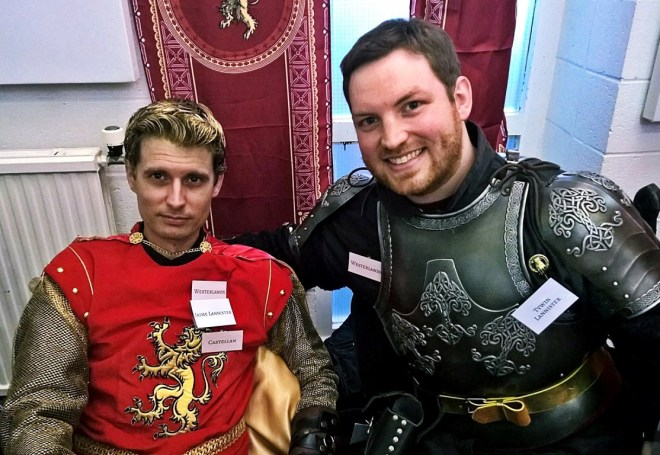 Jaime and Tywin Lannister - Everybody Dies Harder, a Game of Thrones megagame by BeckyBecky Blogs
