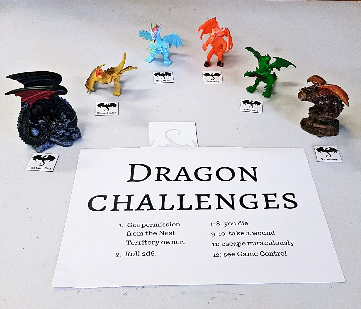 Dragon Challenge Board - Goodbye Everybody Dies the Megagame by BeckyBecky Blogs