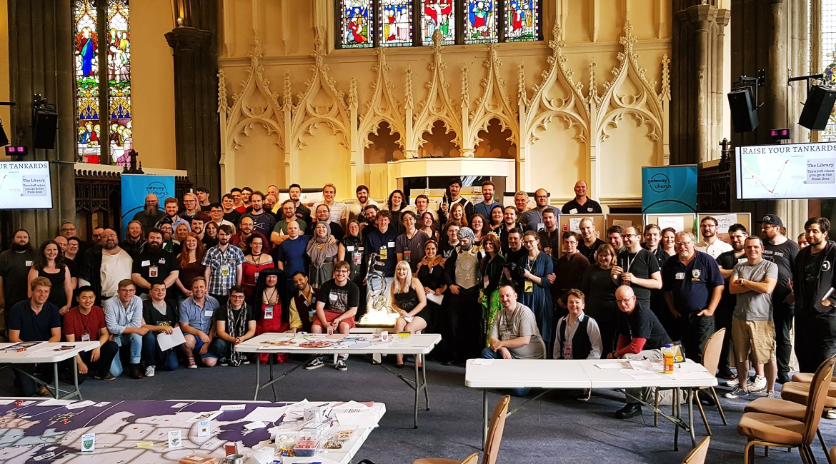 Group photo at Everybody Dies 3 - Goodbye Everybody Dies the Megagame by BeckyBecky Blogs