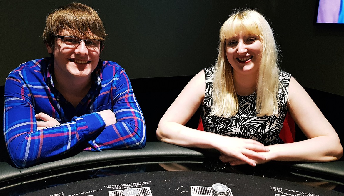 Feeling confident after our lesson - Grosvenor Casino Leeds review by BeckyBecky Blogs