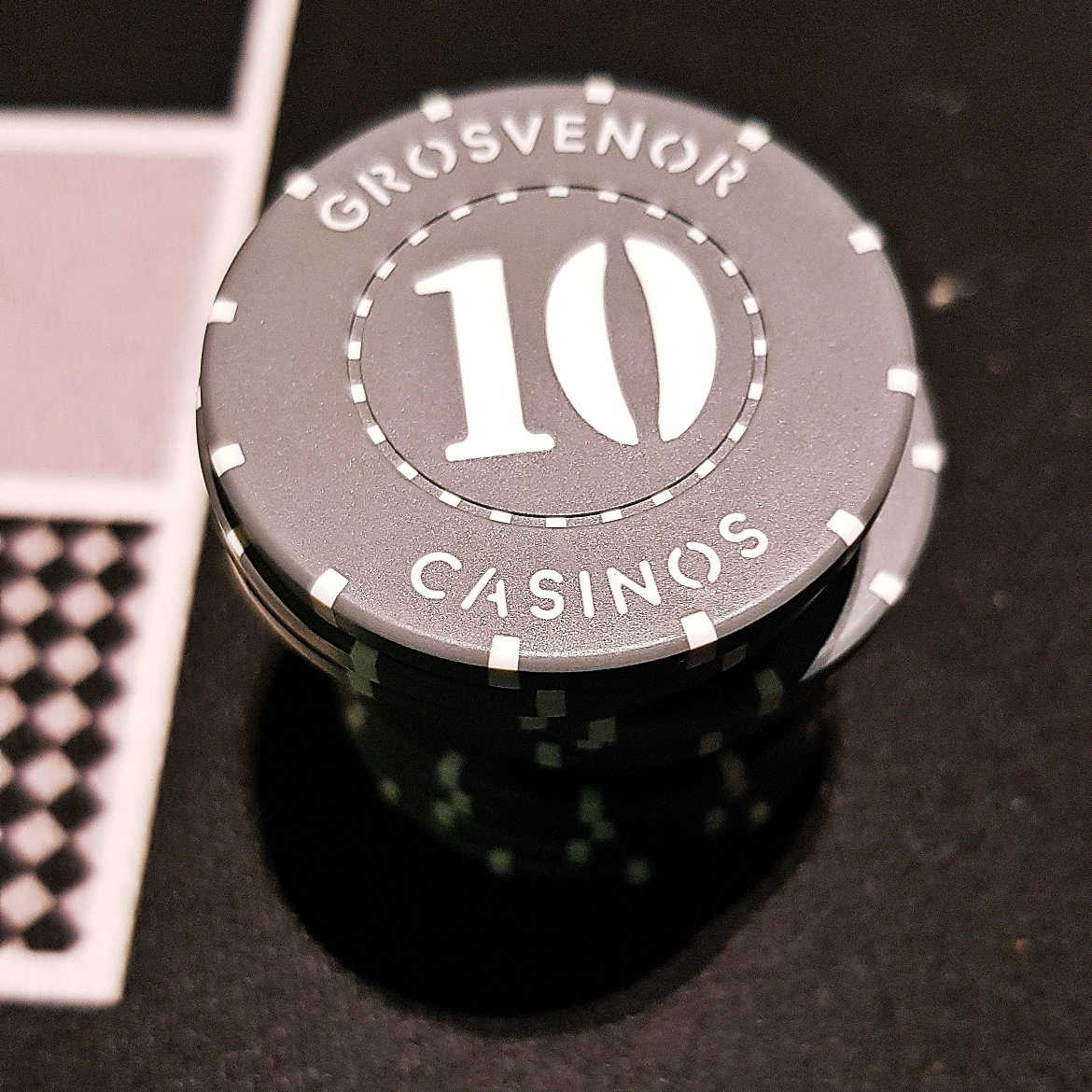 Stack of casino chips - Grosvenor Casino Leeds review by BeckyBecky Blogs
