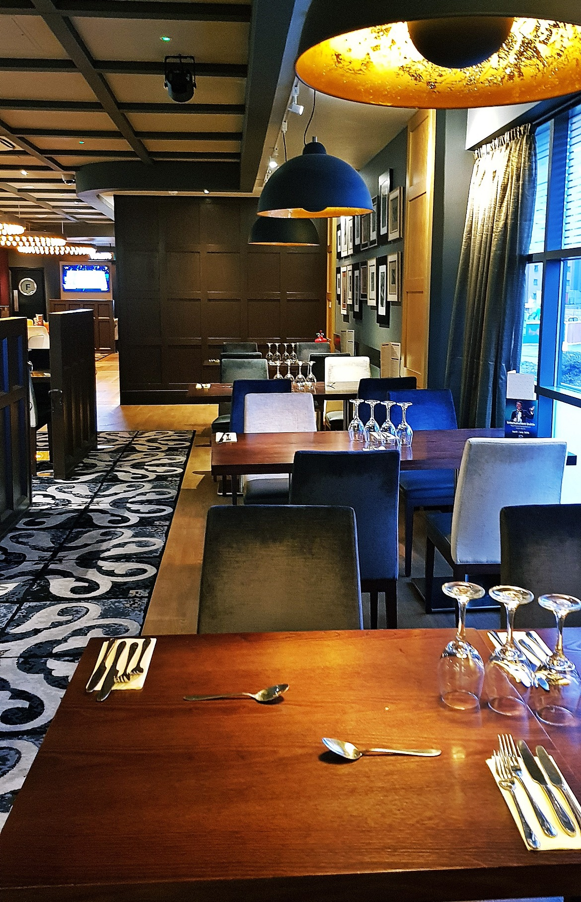 Tables in the restaurant - Grosvenor Casino Leeds review by BeckyBecky Blogs