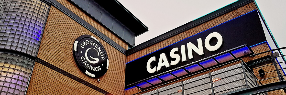 Sign outside - Grosvenor Casino Leeds review by BeckyBecky Blogs