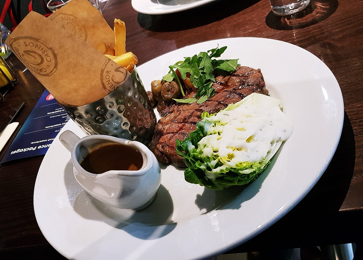 Sirloin steak - Grosvenor Casino Leeds review by BeckyBecky Blogs