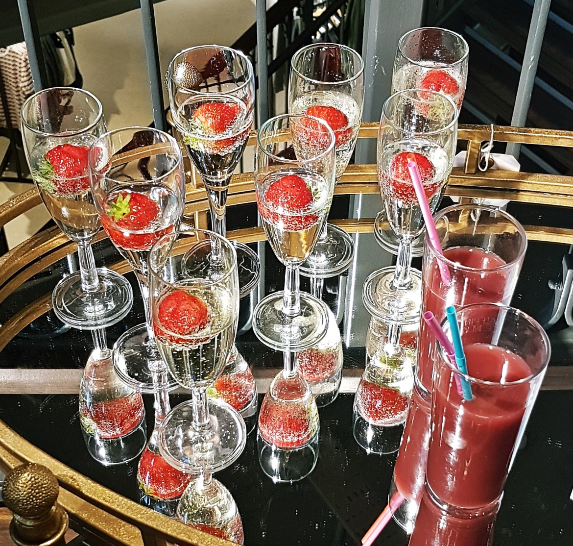 Prosecco and strawberries juice - Tune in with Joy the Store, Leeds shop review by BeckyBecky Blogs
